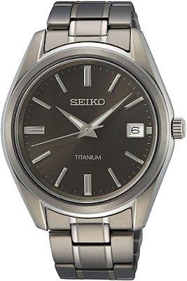 Relógio Seiko Quartz Sur375b1 Titanium + Safira Masculino