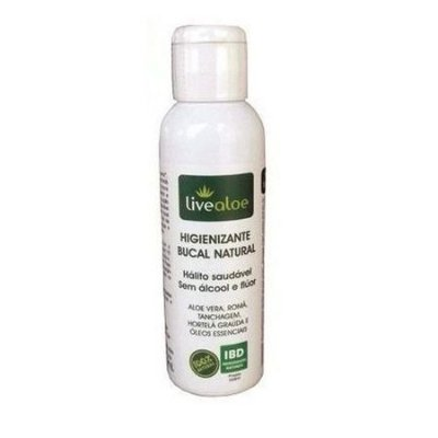 Higienizante Bucal Natural 60ml Vegano e Natural - Livealoe