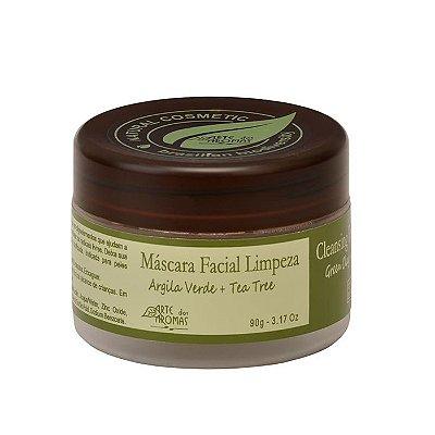 Máscara Facial Argila Verde 90g - Arte dos Aromas