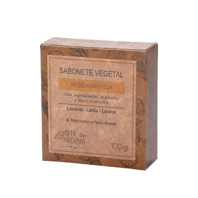 Sabonete Barra Argila Amarela 100 g - Arte dos Aromas
