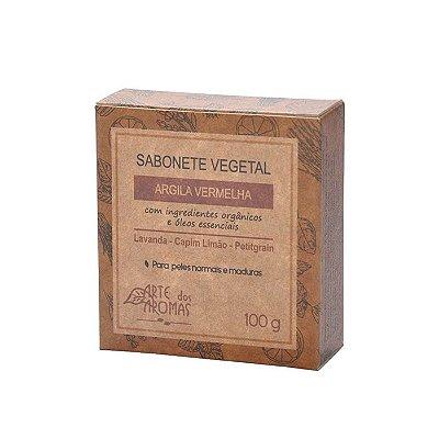 Sabonete Barra de Argila Vermelha 100g - Arte dos Aromas