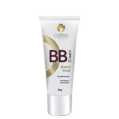 BB Cream 6 em 1 FPS 20 - Cativa