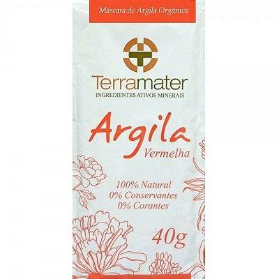 Argila Terramater Orgânica e Certificada - Vermelha - 40g