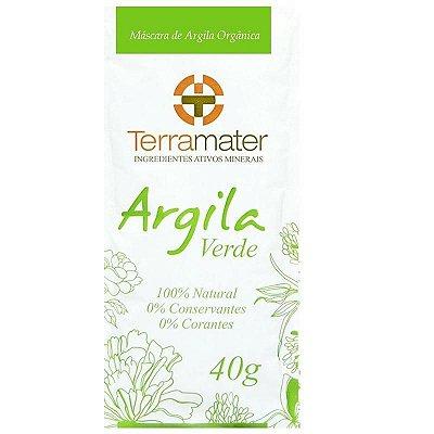Argila Terramater Orgânica e Certificada - Verde - 40g