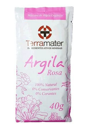 Argila Terramater Orgânica e Certificada - Rosa - 40g