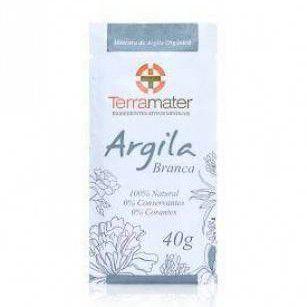 Argila Terramater Orgânica e Certificada - Branca - 40g