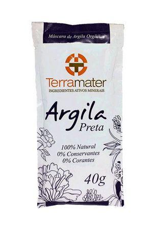 Argila Terramater Orgânica e Certificada - Preta - 40g