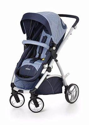 Carrinho Dzieco Maly Travel System + Bebê Conforto + Base Veicular - Azul