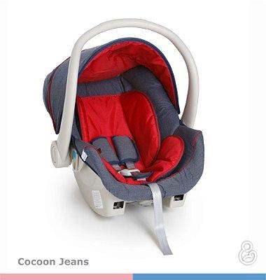 Bebê Conforto Cocoon - Galzerano - Jeans com Vermelho