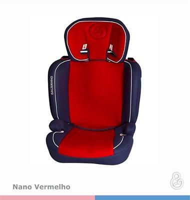 Dispositivo de Retenção Grupo 2 e 3 - 15 a 36Kg - NANO - Galzerano - Vermelho