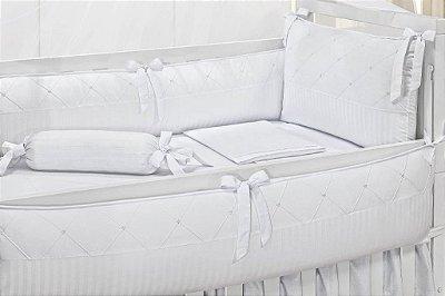 Kit Berço 6 Peças Coleção Patchwork Thity - Fitado Branco