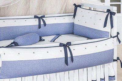 Kit Berço 6 Peças Coleção Patchwork Thity - Vinicius Azul