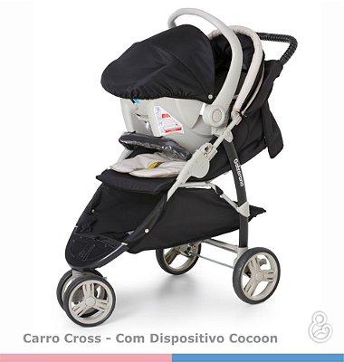 Carrinho Cross Galzerano+Bebê Conforto - Preto com Bege