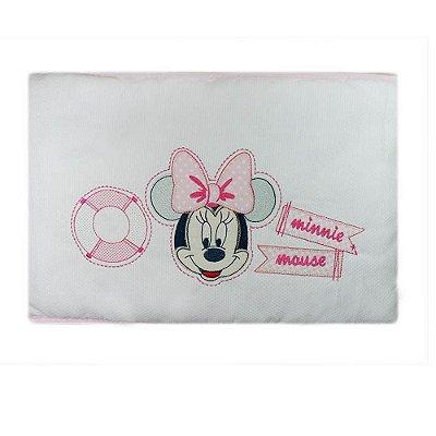 Edredom Minnie Bordado Rosa 85 cm x 1,3 m - Minasrey - 3915