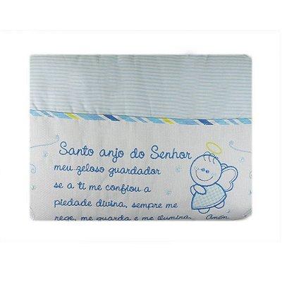 Edredom Bebê Anjo Azul 85 cm x 1,30 m - Minasrey - 3773