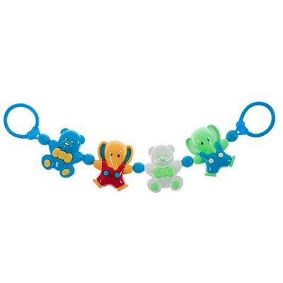 Móbile Acessório para Carrinho de Bebê Urso e Elefante - Pimpolho - 0008273