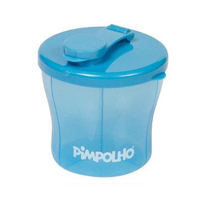 Pote Porta Leite em Pó com 3 Compartimentos Azul - Pimpolho - 7921