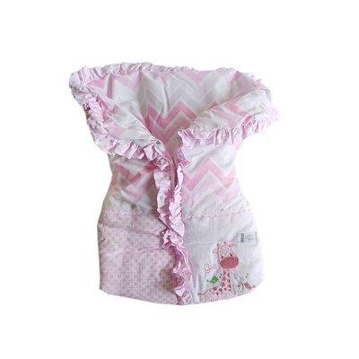Porta Bebê Menina Rosa Girafa Loupiot Classic - Minasrey - 5288