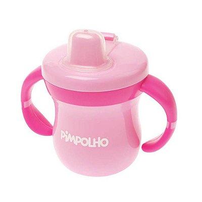 Copo Feminino com Alça e Tampa Rosa Bêbe e Pink - Pimpolho - 7561