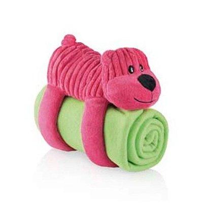 Cobertor com Travesseiro de Pelúcia 3 em 1 Urso Multikids Baby - BB147