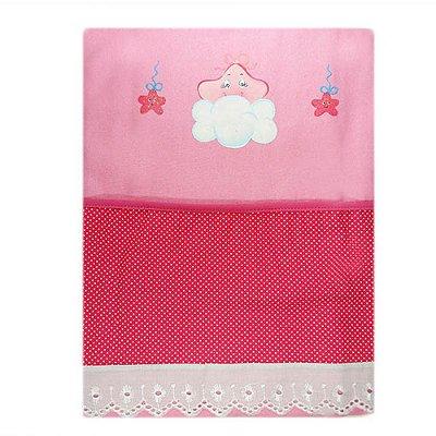 Cobertor Flanelado Recém-Nascido Pintado - Estrelinha 1301