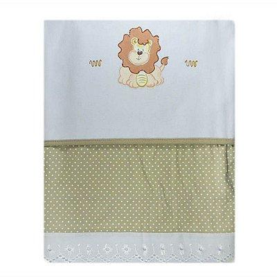 Cobertor Flanelado Recém-Nascido Pintado - Leãozinho 1301