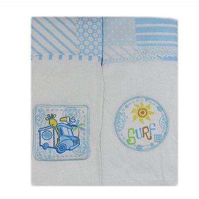 Toalha Fralda Azul 70 cm x 108 cm com Bainha Carícia - Minasrey 3349