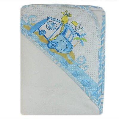 Manta Flanelada Azul Carícia Baby – Minasrey – 3328