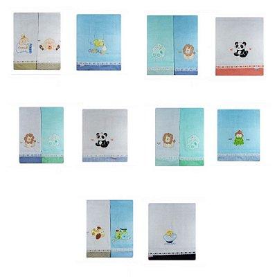 Fraldas com Barra Pintadas (15pçs) - Desenhos variados 1400