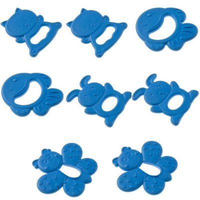 Kit com 8 Mordedores Masculino Borboleta Azul - Pimpolho 7782
