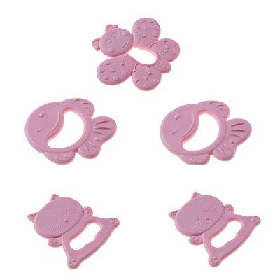 Kit com 5 Mordedores Feminino Rosa - Pimpolho 7781