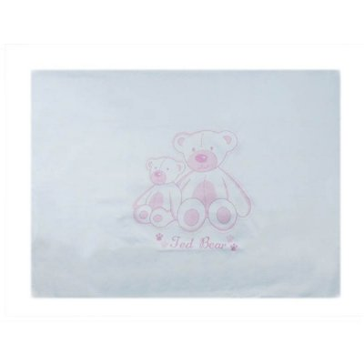 Fronha de Malha Estampada 28 cm x 40 cm - Rosa - Minasrey 4022