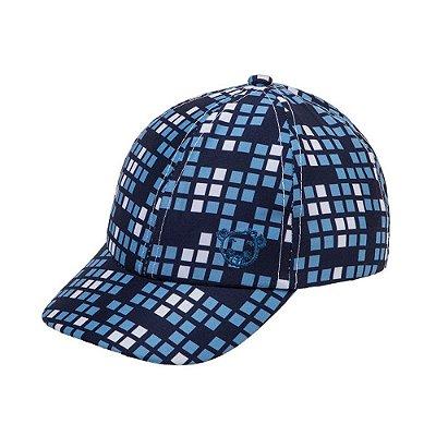 Boné Pimpolho Xadrex Azul - Ajustável - 1 a 2 anos - Pimpolho - 0008147