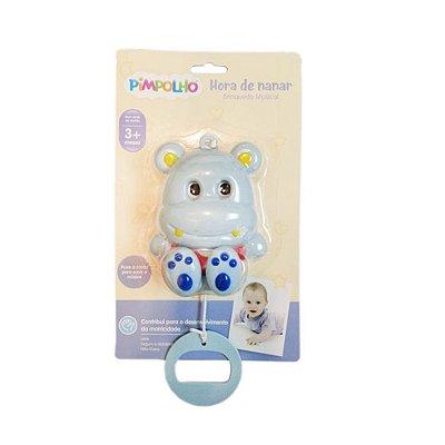 Brinquedo Musical Hipopótamo Vermelho- Pimpolho 7566