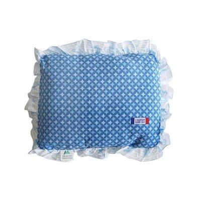 Travesseiro com Babado Azul Loupiot  28cm x 35cm - Minasrey - 3461