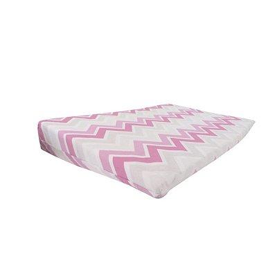 Travesseiro Rampa Anti-Refluxo Loupiot Classic 59 cm x 36 cm x 8 cm - Rosa - Minasrey - 5124
