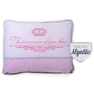 Travesseiro Reininho The Princess Sleeps Here - Minasrey - 3676