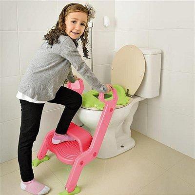 Redutor De Assento para Vaso com Escada Menina Multikids Baby - BB052