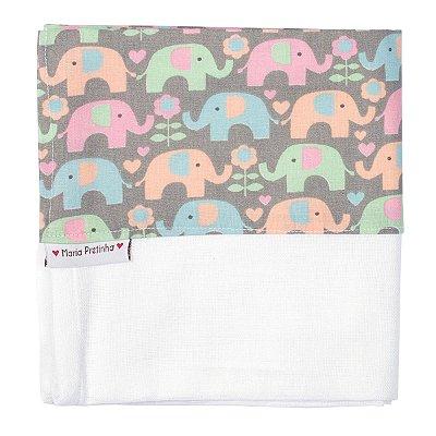 Fralda de Ombro de Elefantes Coloridos