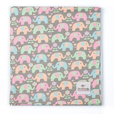 Manta de Elefantes Coloridos
