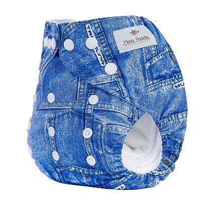 Fralda de Pano Moderna Jeans