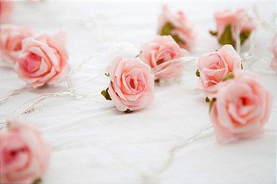 Rosas Rosa - Fairy Light | Luminária | Luz de Fadas