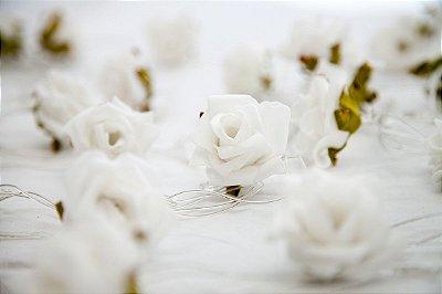 Rosas Brancas - Fairy Light | Luminária | Luz de Fadas