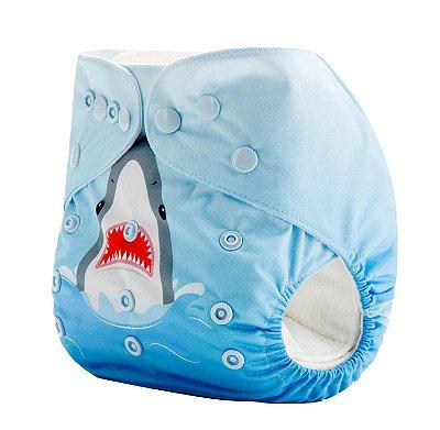 Fralda de Pano Moderna Tubarão