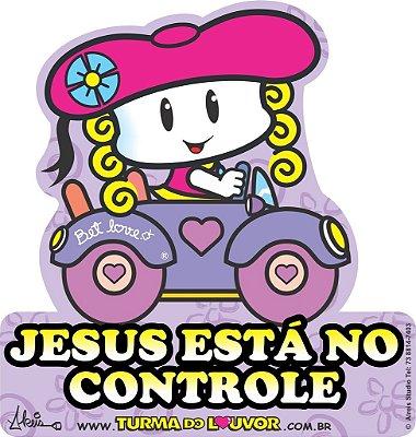 "Adesivo para carro ""Jesus está no controle"""