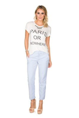 Blusa Paris Off White com Pedraria