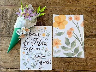 Bouquet + cartão de parede