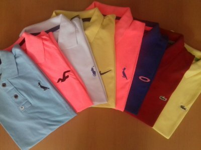 KIT 10 CAMISAS POLO MASCULINA