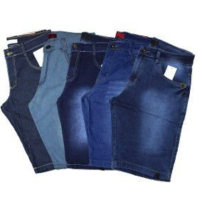 Kit 10 Bermudas Jeans