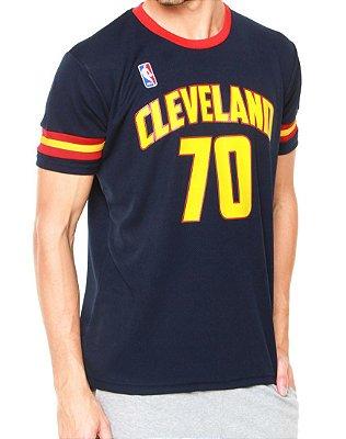 Camiseta NBA Manga Curta Premium Cleveland Cavliers Azul-Marinho